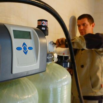 Монтаж систем очистки воды в с. Левково