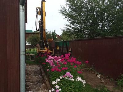 Скважина на воду малогабаритной установкой в Одинцово