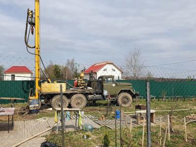 Скважина на воду в деревне Кочнеево