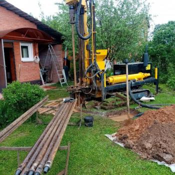 Бурение скважины на воду в деревне Лобково