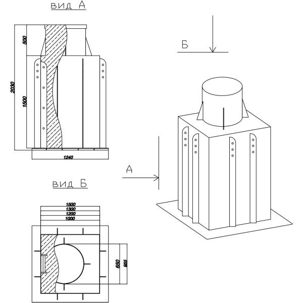 Пластиковый кессон Аквалюкс Пласт 6