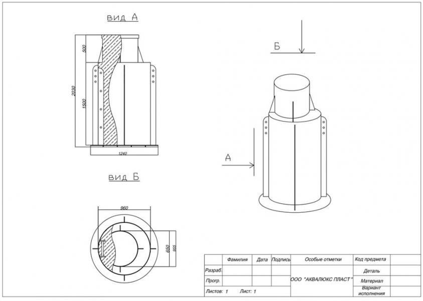 Пластиковый кессон Аквалюкс Пласт 1